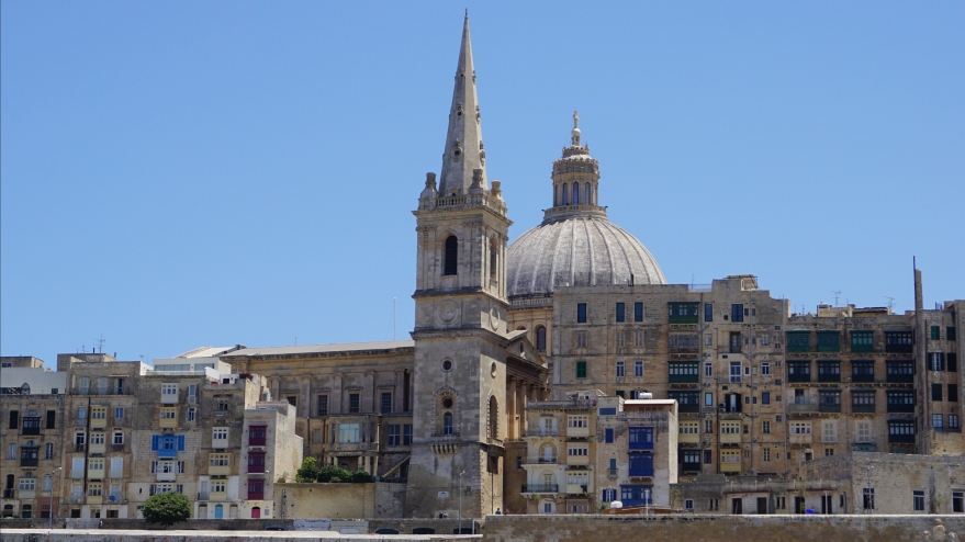 view on buildings in Valetta Malta