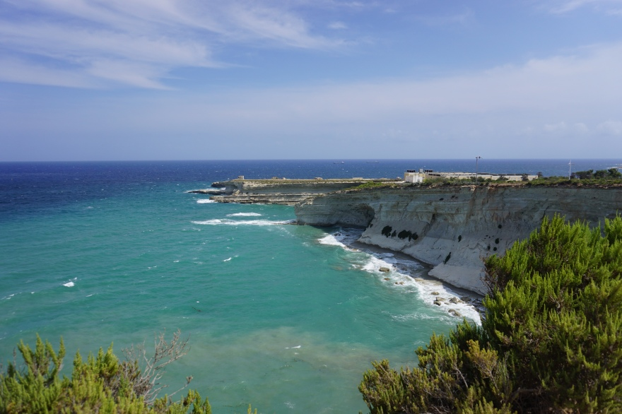 Picture showing Sea and Cliffs Malta