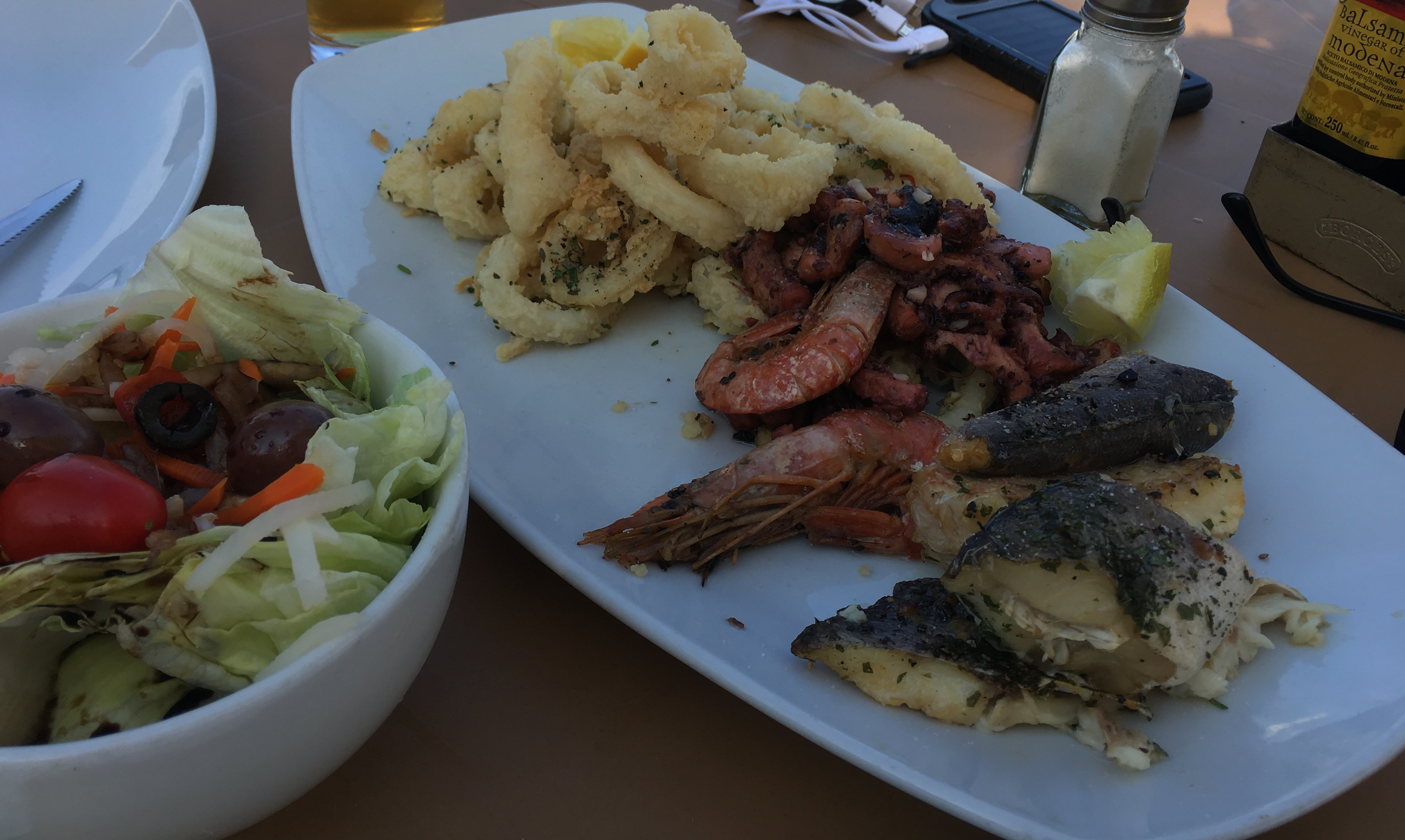 fish platter , Malta, fish, shrimp and calamar