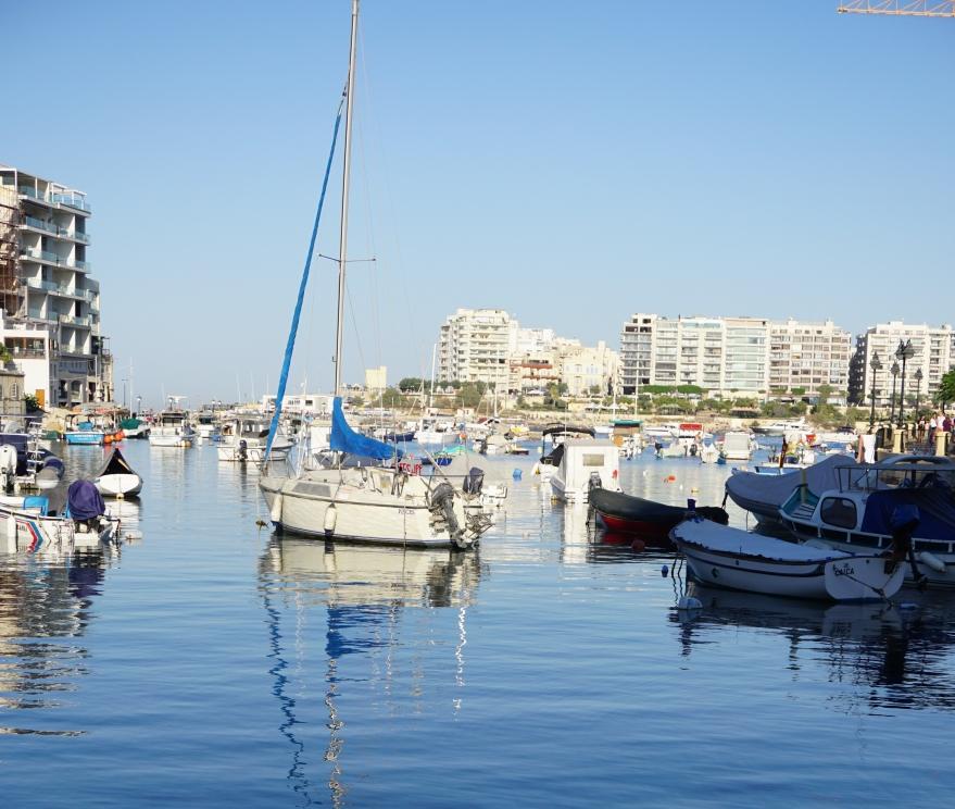 Sea, boats, Malta