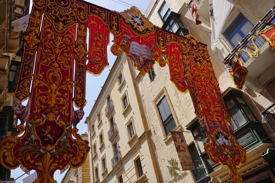 Festa banner Street of Valetta