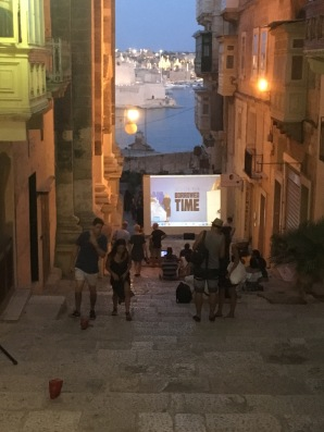 stairs movie showing Valetta Malta