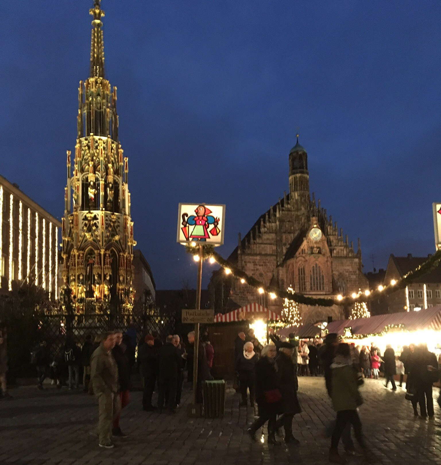 people buildings Christmas market