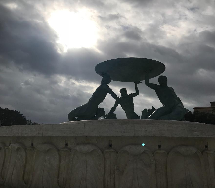 Triton Fountain Valletta Malta