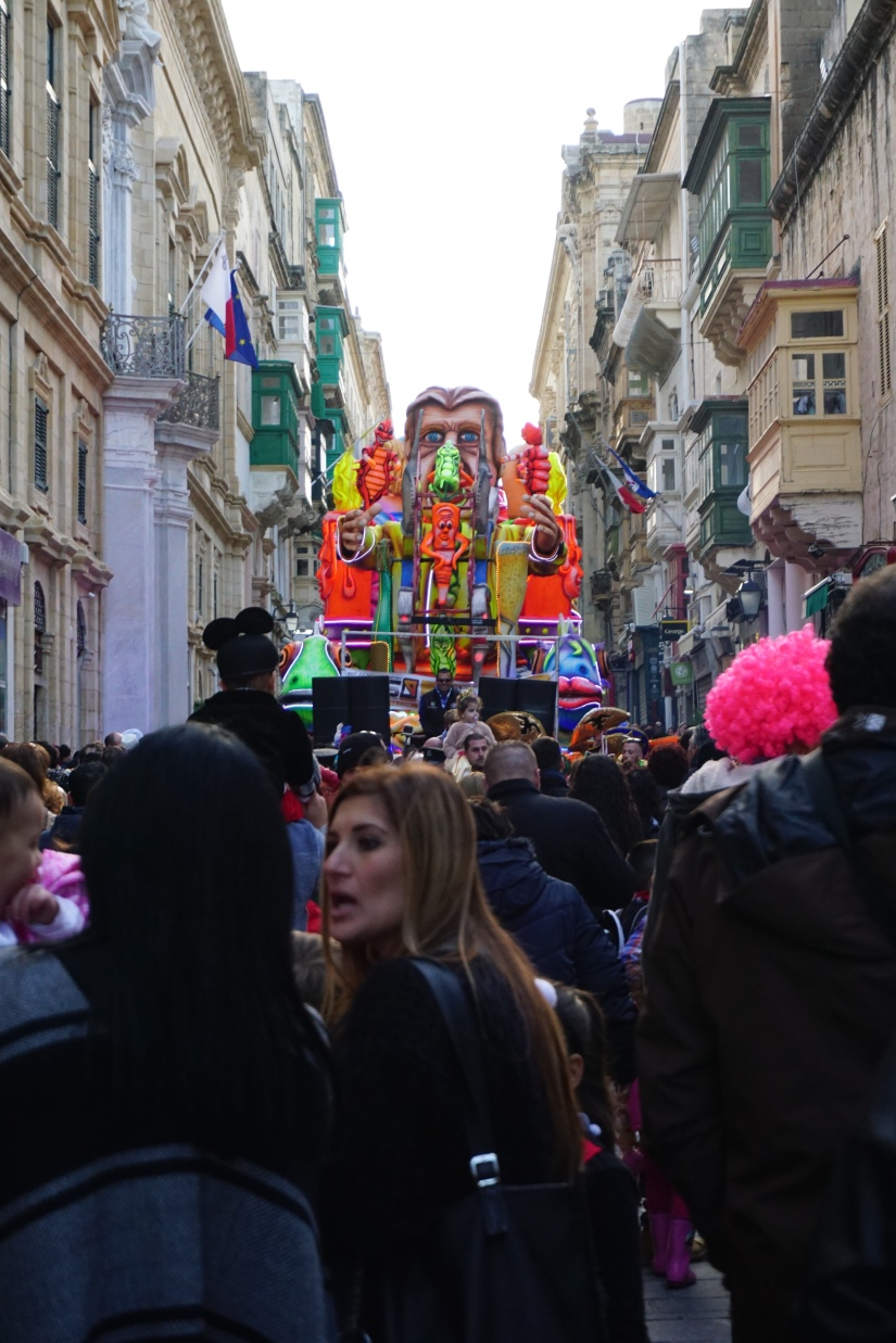 streets of Valletta Floats carnival in Malta