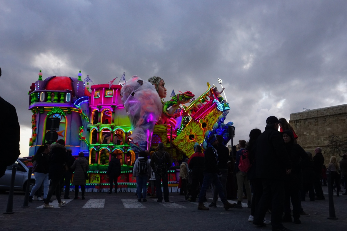 floats ant carnival in Malta