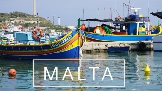 Maltese boats ocean writing Malta